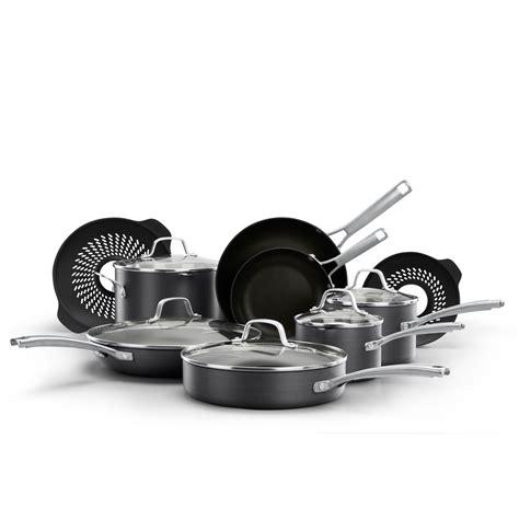 calphalon tri ply copper  pc cookware set