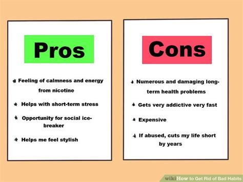 how to get rid of bad habits with pictures wikihow