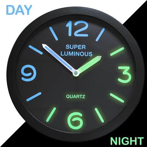 glow   dark wall clock shopmonk