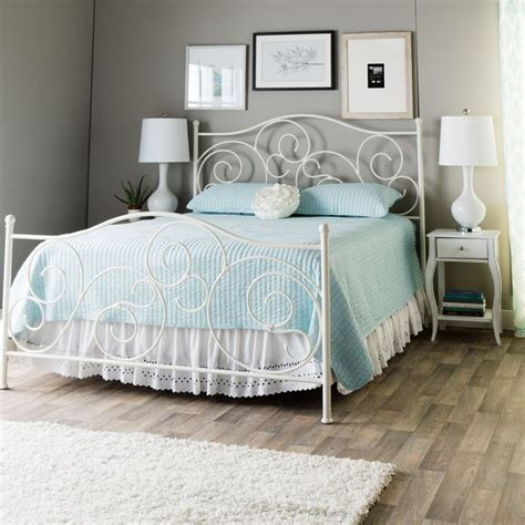 Plain Metal Bed Frame by Plain White Size Bed Traditional White Metal