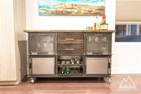 Buy a Handmade Modern Rustic Industrial Reclaimed Bar Cart