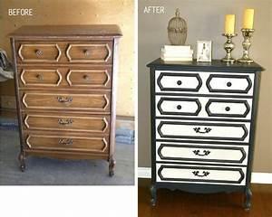 meuble en bois repeint avant apres 4 bricobistro With meuble repeint avant apres