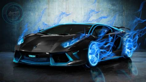 Blue Gold Cool Car Wallpapers by Lamborghini Aventador Burning By Axoniaz On Deviantart