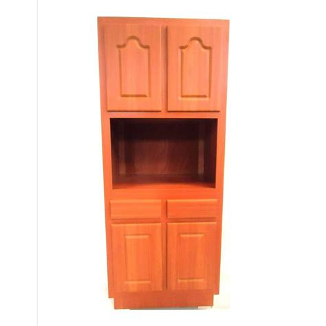 laminate cabinet doors home depot metalarte 30 in laminate cherry microwave pantry cabinet