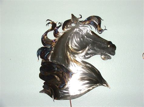 Horse head metal wall art decor home office living room bedroom decoration 5073. Hand Crafted Metal Art Design, Wall Decor, Kim's Steel Horses by Junk-A-Licious Art | CustomMade.com