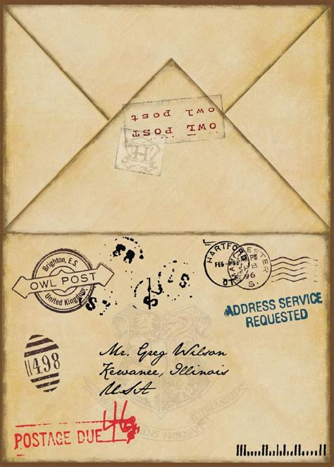 harry potter envelope template 17 best images about harry potter on