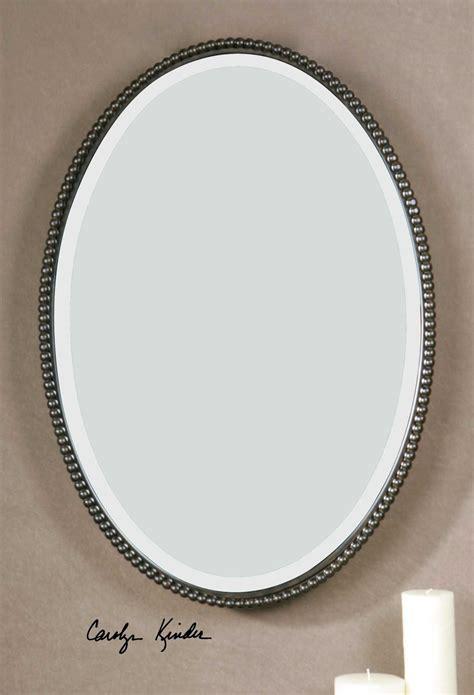 Uttermost Sherise 22 X 32 Bronze Oval Wall Mirror Ut01101b