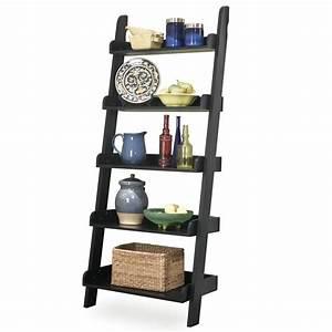 Whitewood Ladder Bookshelf - Leaning Bookcase