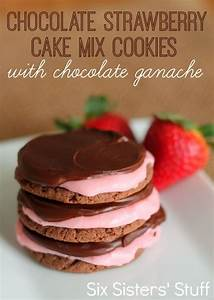 Chocolate Strawberry Cake Mix Cookies with Chocolate ...
