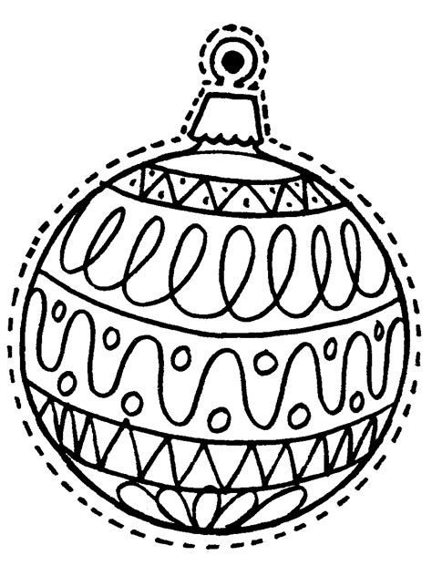 christmas decorations pictures to print ornaments coloring pages printable coloring home