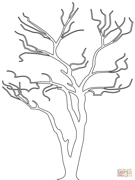 dead tree coloring page  getcoloringscom  printable colorings pages  print  color