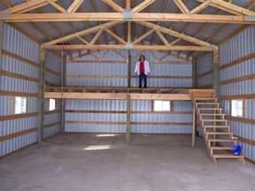 Pole Building Loft in Barn