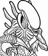 Alien Coloring Pages Printable Classic Predator Categories sketch template