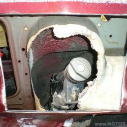 unterbodenschutz erneuern anleitung tanklochblech mit inneren eckteil erneuern start f