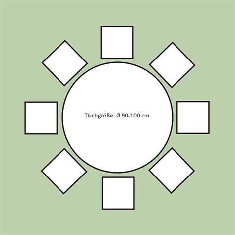 Runder Tisch Für 10 Personen by Platzbedarf Esstisch 6 Personen