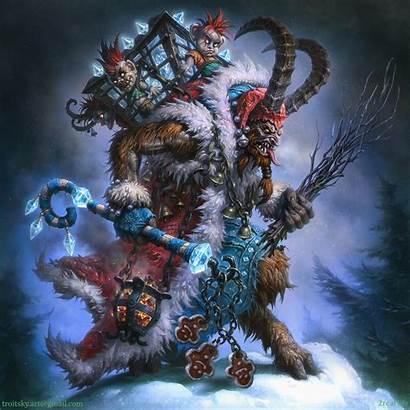 Krampus Christmas Artwork Ivan Troitsky Horror Artstation