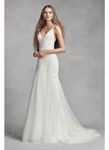 white by vera wang plunging sheath wedding dress david39s With sheath wedding dresses vera wang