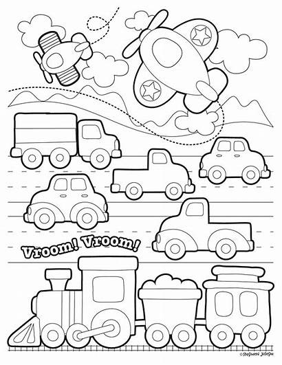 Transportation Coloring Pages Printable Toddlers Preschool Transport
