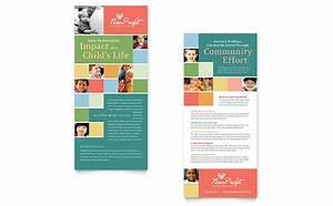 non profit association for children rack card template With rack card template for word