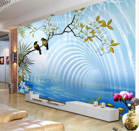3d Wallpaper Sticker by 3d Wallpaper Custom Mural Non Woven Wall Sticker 3d Space