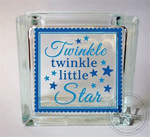 vinyl lettering glass block decal twinkle by kwintersdesigns With vinyl letters for glassware