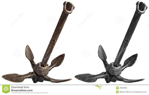 Grapnel Boat Anchors by Folding Grapnel Anchor Stock Photo Image 40506382
