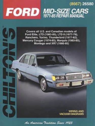 free online car repair manuals download 2006 mercury mountaineer seat position control chilton ford mercury mid size cars 1971 1985 repair manual