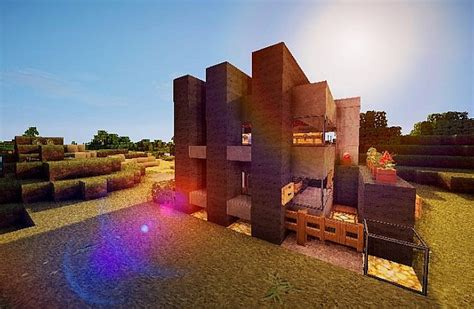 contemporary survival house  minecraft building