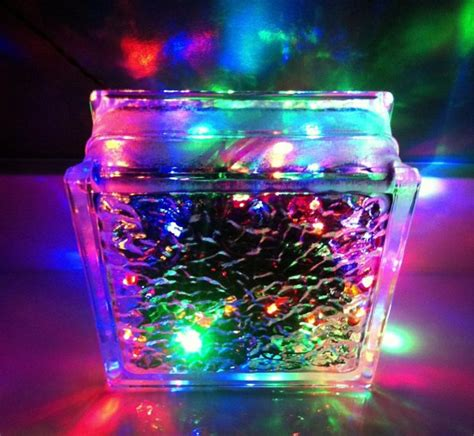 glass block christmas lights dollar store crafts pinterest