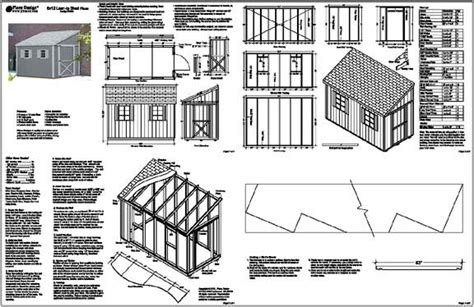12x16 slant roof shed plans slant roof shed plansshed plans shed plans
