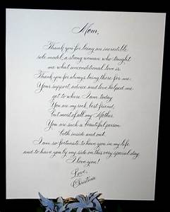 Menus programs wedding scrolls artful celebrations for Letter to mother of the bride