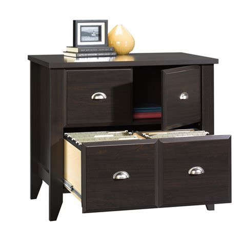Sauder Lateral File Cabinet Wood by Sauder Shoal Creek Jamocha Wood Lateral File Cabinet 408924