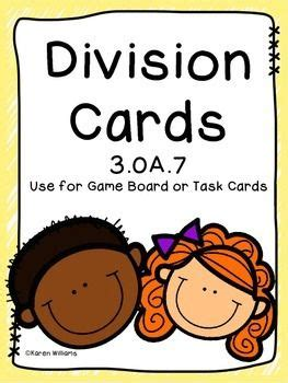 oa division task cards  images division task