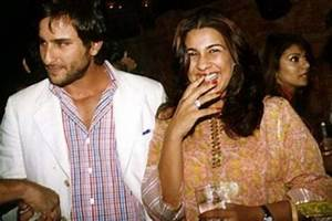 Unseen Photos of Saif Ali Khan with his First Wife