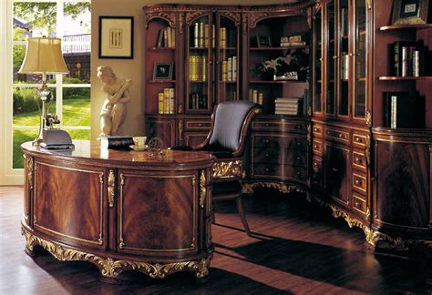 Luxury Solid Wood Study Room Furniture Hand Carved Living