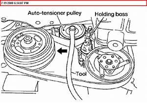 How Do I Loosen The Belt Tensioner On A 2005 Nissan Altima 2 5l