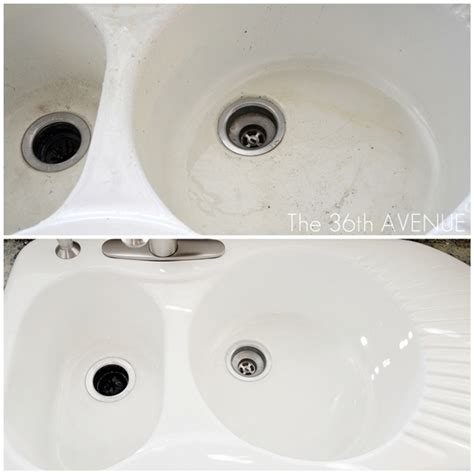 cleaning a porcelain kitchen sink 12 brilliant bathroom cleaning hacks picky stitch