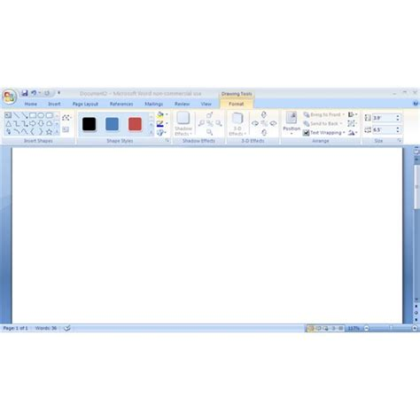 microsoft word      drawing toolbar