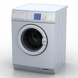Home Appliances 3D Models Washing machine AEG N300112