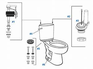 Mansfield Waverly Toilet Replacement Parts