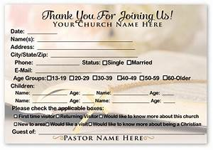 6 best images of printable church visitor cards for Church welcome card template
