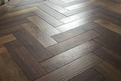 herringbone and parquet wood look porcelain floor tiles