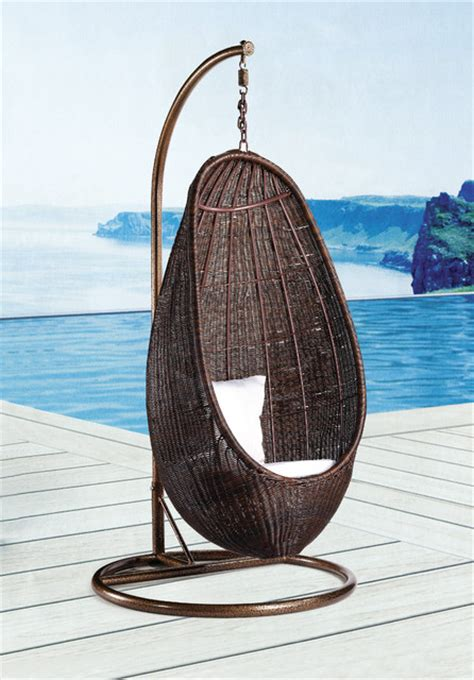 rattan hanging chair with stand modern outdoor