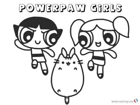 Pusheen Coloring Pages Powerpaw Girls