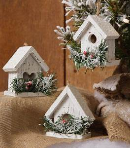 Snowy Village Mini Birdhouse Set