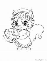 Coloring Whisker Haven Tillie Nola Palace Pets sketch template