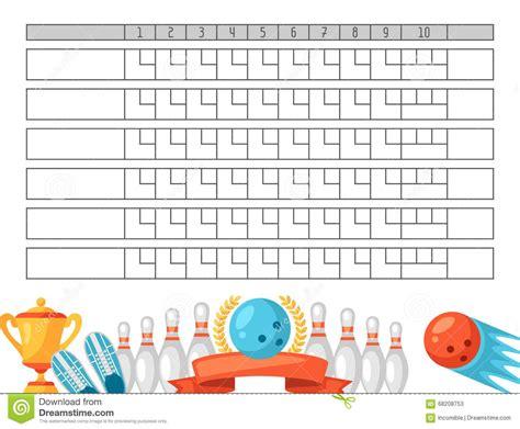 bowling score sheet blank template scoreboard  game