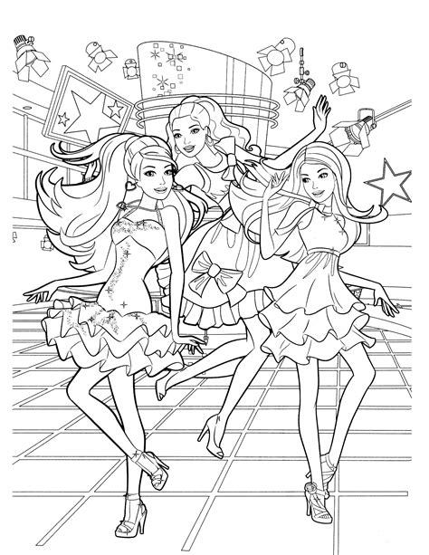 Coloring Pages Barbie Printable