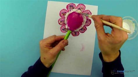 bastelideen fruehling anleitung blume basteln als dekoblume youtube