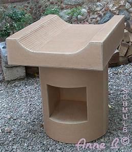 Meuble Table A Langer : mobilier de puericulture berceau et table langer en carton ~ Dode.kayakingforconservation.com Idées de Décoration